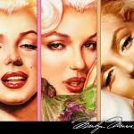 Triptico de Marilyn Monroe a punto de cruz