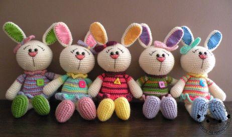 ideas conejos de colores