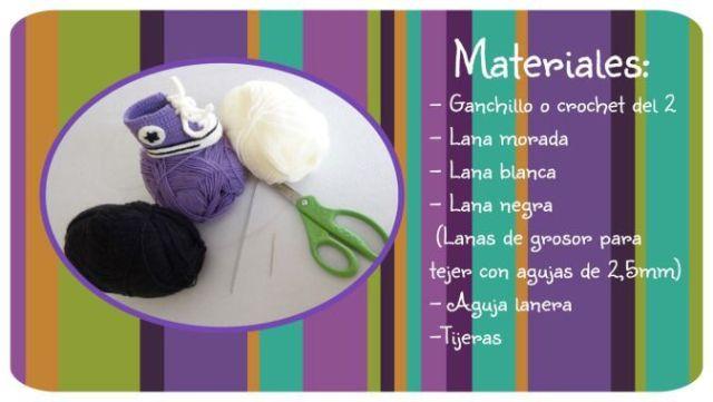 Material Patucos bebé All Star a crochet
