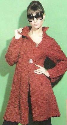 abrigo crochet rojo