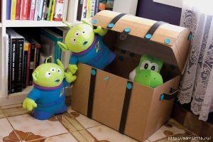 baul de carton para juguetes