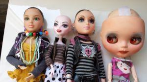 peluca para muñecas
