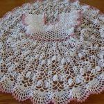 Vestido de Abanicos en crochet para niña