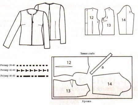 chaqueta transparente patron