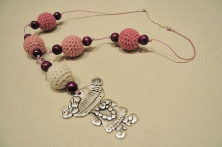 colgante personalizado crochet