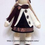 Patrón de bonita muñeca conejo