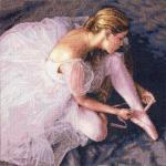 Bailarina a punto de cruz