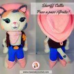 Muñeca amigurumi Sheriff Callie