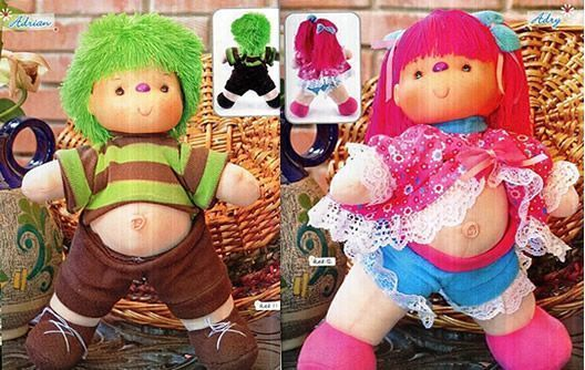 pareja de muñecos pepones
