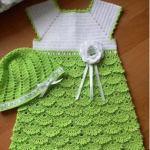 Patrón de vestido de niña a crochet