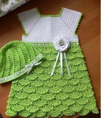 63dc2f830 Patrón de vestido de niña a crochet - Patrones gratis