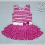 Vestido de verano de niña a crochet