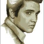 Elvis Presley a punto de cruz