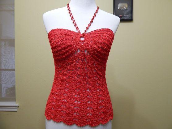blusa floral a crochet