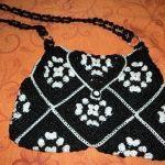 Bolsa con cuadros a crochet tutorial