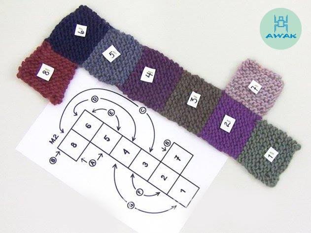 Zapatillas crochet en cuadrados - Patrones gratis