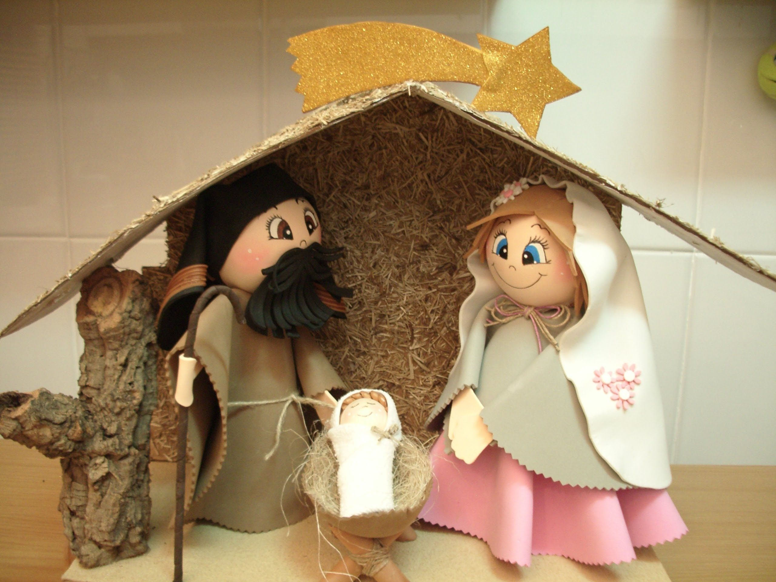 Como Hacer Un Belen O Nacimiento De Navidad En Goma Eva Patrones
