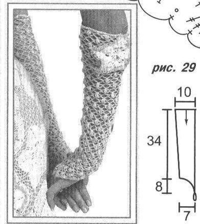 vestido de verano con guantes a crochet - grafico 4