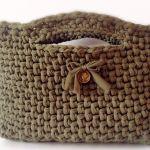 Bolso de fettuccia a crochet