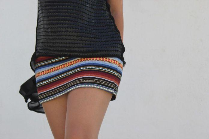 mini falda étnica 3