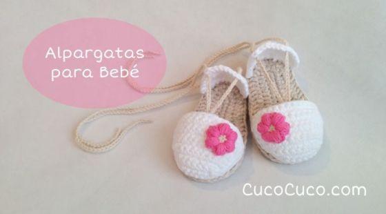 sandalias para bebes en crochet