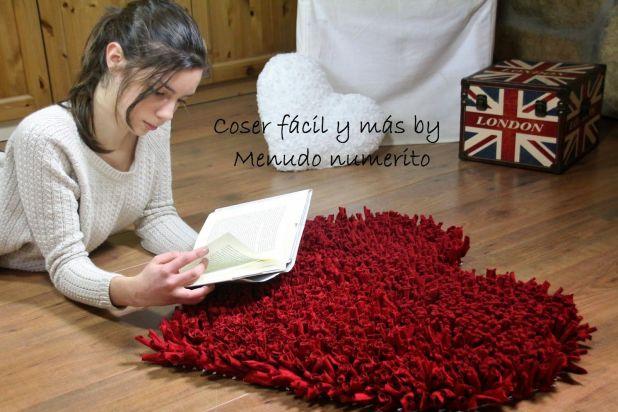 alfombra trapillo corazon