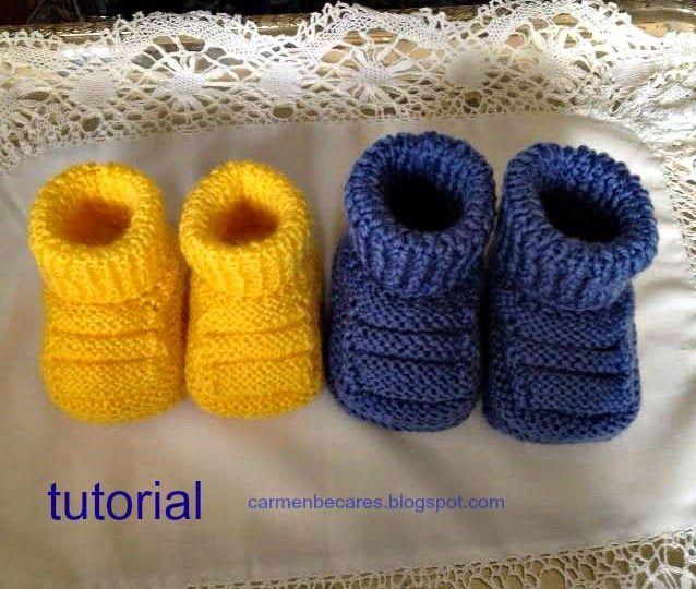 como hacer zapatitos de bebe tejidos paso a paso