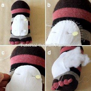 pinguino calcetin 7