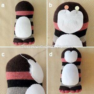 pinguino calcetin 8
