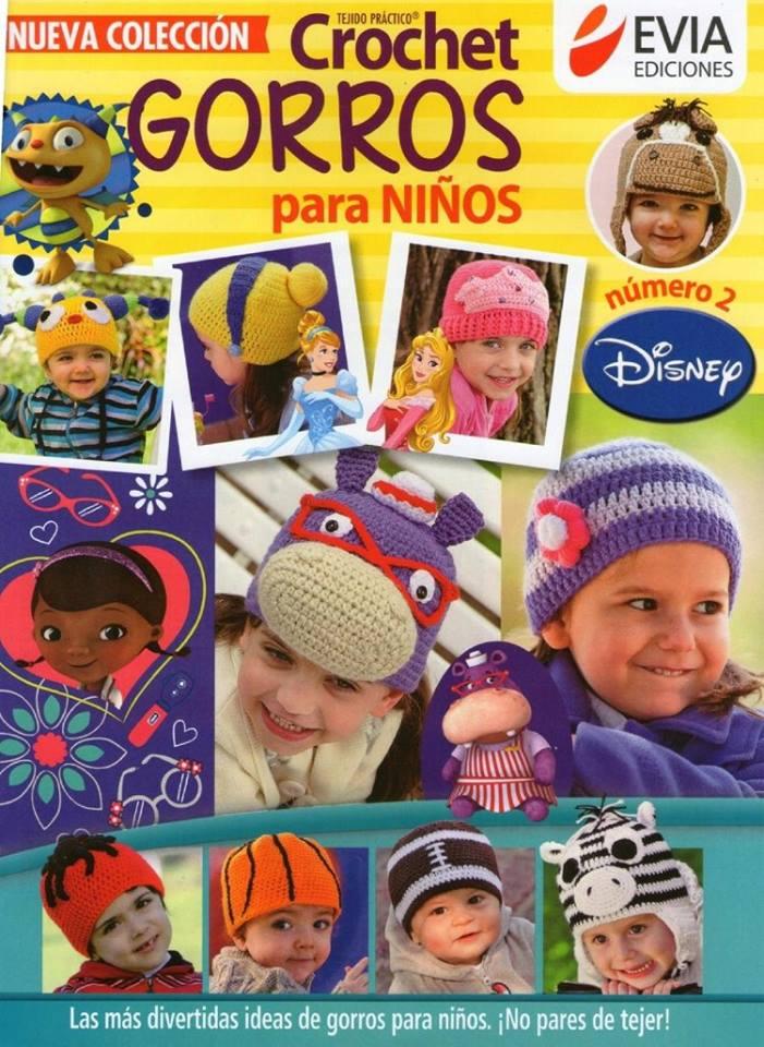 Gorros Disney en crochet para niños - Patrones gratis