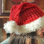 Gorro navideño tejido a 2 agujas