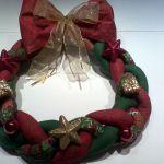 Corona de Navidad en patchwork paso a paso
