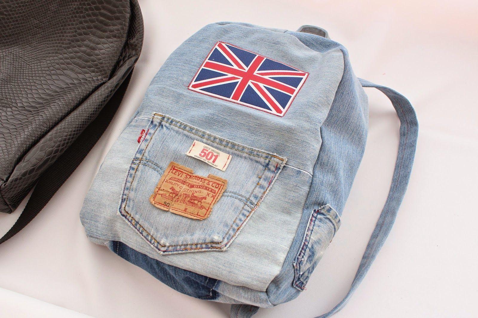 ddb022fea Como hacer una Mochila de Jeans - Patrones gratis