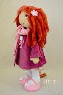 Muñeca de tela Irina con patrón