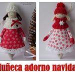 Muñeca adorno para navidad