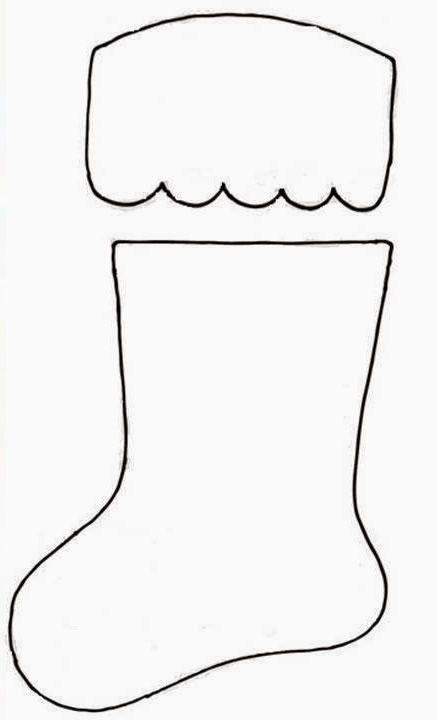 Bota de navidad para cubiertos patrones gratis - Calcetin de navidad ...