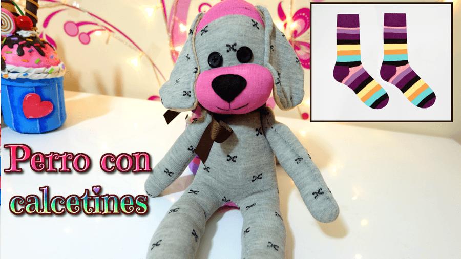 Perro hecho con calcetines - Patrones gratis