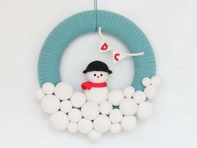 Amigurumi-Corona-Navidad - Patrones gratis