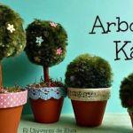 Arbolito y Arbusto Kawaii