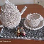 Juego de té con pasta