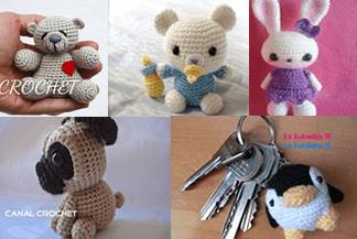 Llaveros Amigurumis Animales : Llaveros en amigurumi patrones gratis