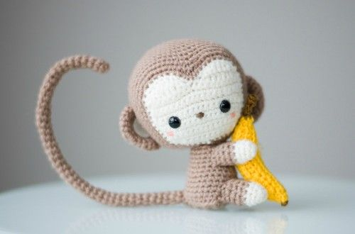 Amigurumi Patrones Gratis De Buho : Mono con plátano en amigurumi patrones gratis