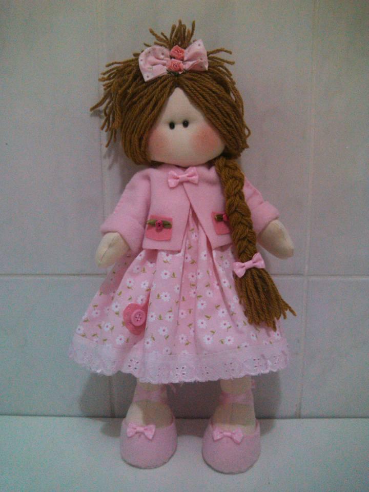 Patrón de muñeca rusa con vestido - Patrones gratis