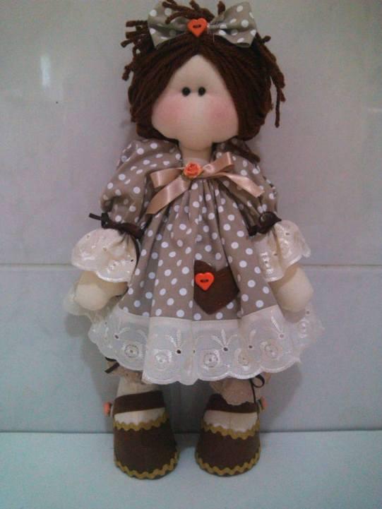 muñeca rusa con vestido