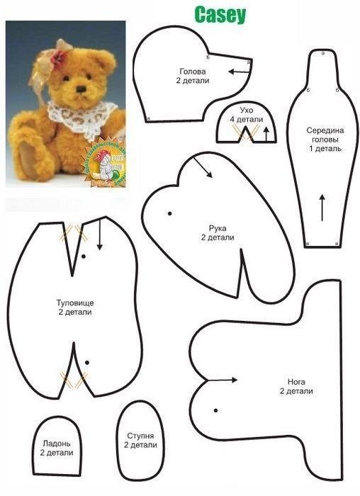 Patrones de osos de peluche - Patrones gratis