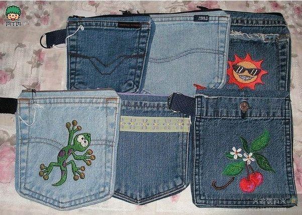Ideas para hacer bolsos reciclando pantalones vaqueros - Patrones gratis d77114748bad