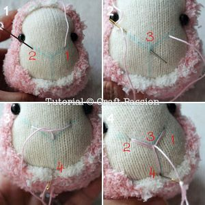 ovejas con calcetin paso 6