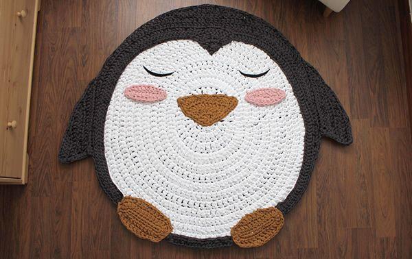 Como Hacer Una Alfombra En Trapillo De Pingüino Patrones Gratis