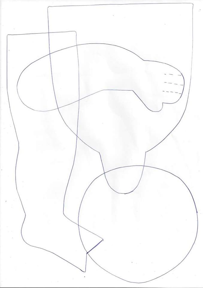 Patrón de muñeca pelirroja de tela
