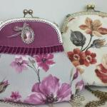 Patrón de bolso vintage con boquilla